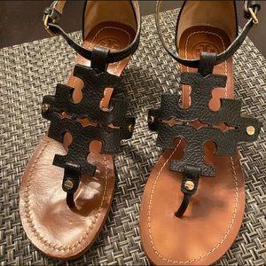 TORY BURCH Chandler Wedge Sandals black